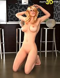 Super hot blonde loses her top and panties - part 524