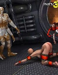 Captured space babe fucked by alien overlord - part 5
